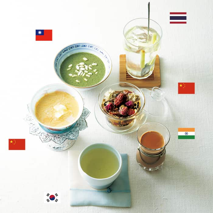 「体と心を癒すアジアのお茶 6選」の中の、【台湾】擂茶(れいちゃ)と【チベット】バター茶が興味深いです。