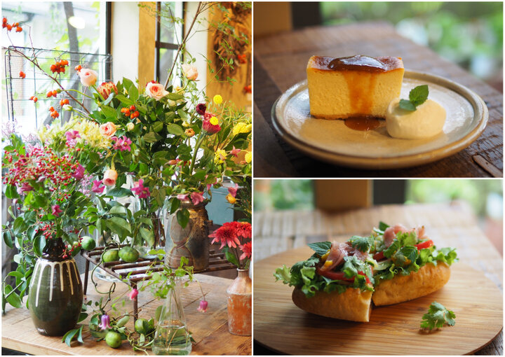 庭師が営む花屋の中に併設されているカフェ「吉祥寺ひとくさ/くろもじ珈琲」でランチタイムを過ごしてみたいです。