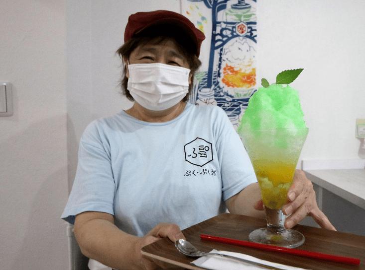 """岡山県の""""和ハッカかき氷""""を見て、ハーブによって""""かき氷の概念""""に変化が出ると感じました。"""