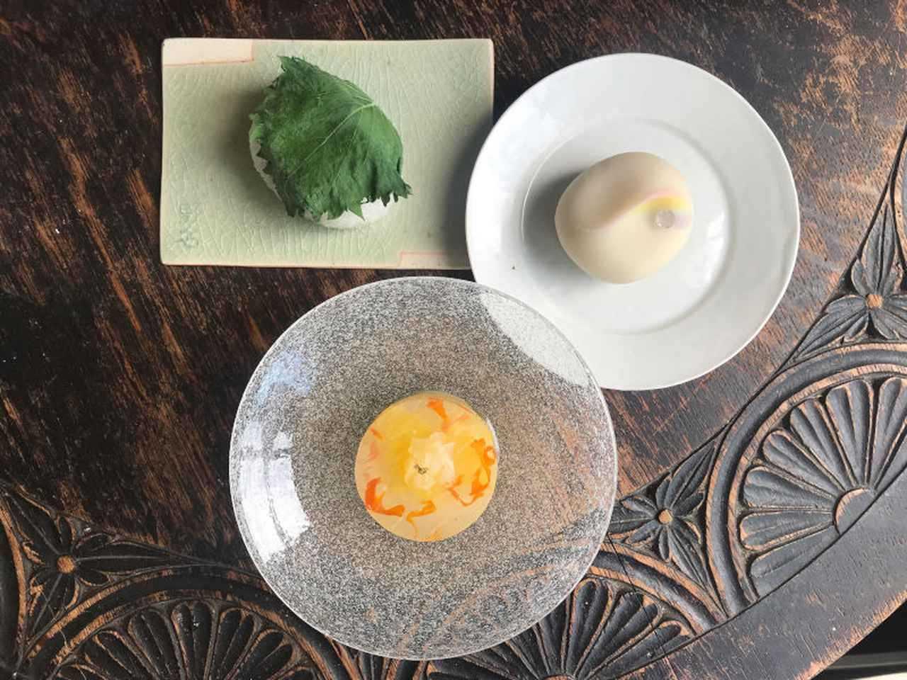 ハーブや果物を使った和菓子を提供する「菓子屋のな」が気になります。